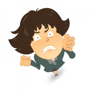 angry cartoon figure