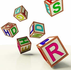 alphabet blocks photo